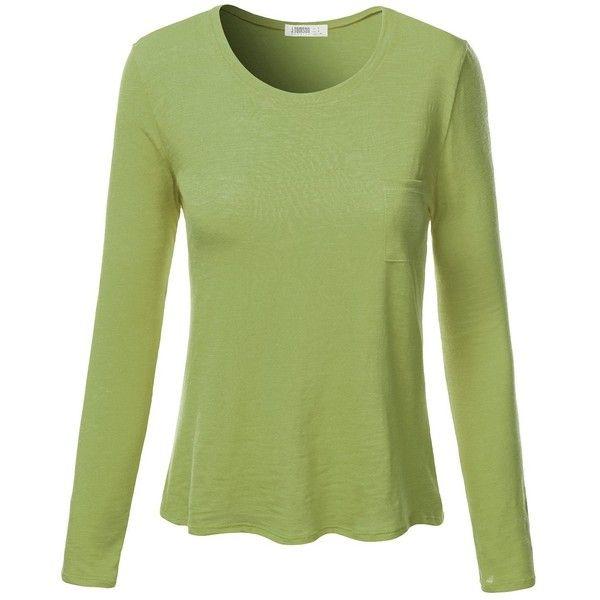 e83d83d4dc88a Discover ideas about Orange Tops. J.TOMSON Womens Plain Basic Cotton  Spandex Long Sleeve ...