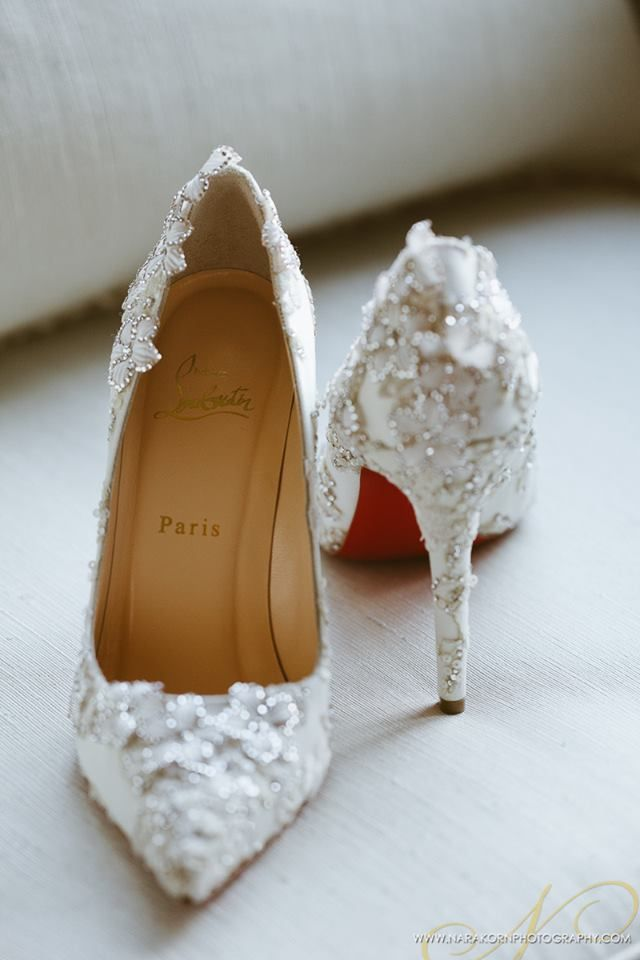 2aaf6c801f9 Why not! The dress is paid for! Christian Louboutin l White Wedding ...