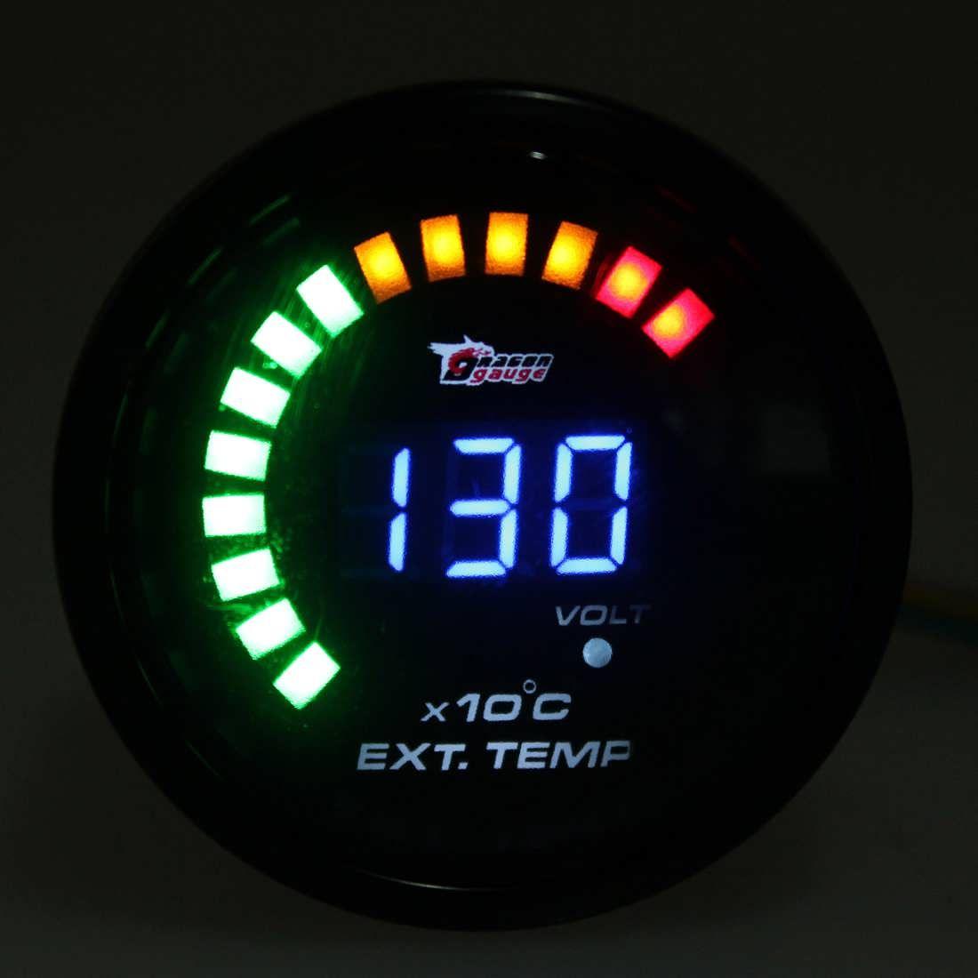 Auto car analog led digital exhaust gas temp temperature