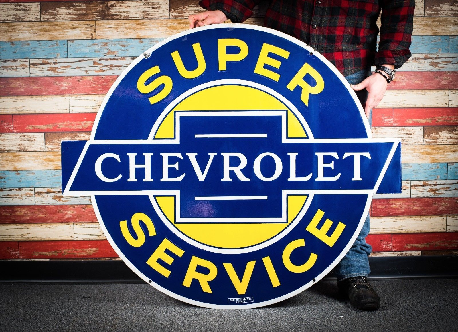 Details About Original Chevrolet Service Porcelain Gas Oil