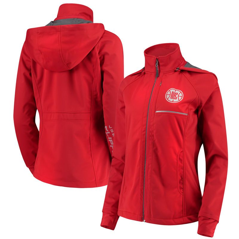 64a25fee153 LA Clippers G-III 4Her by Carl Banks Women's Cut Back Soft Shell Full-Zip  Jacket – Red
