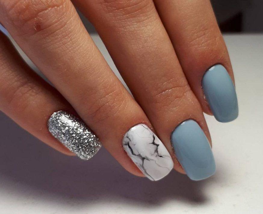 Nail Art 3764 Luxury Nails Light Blue Nails Blue Gel Nails