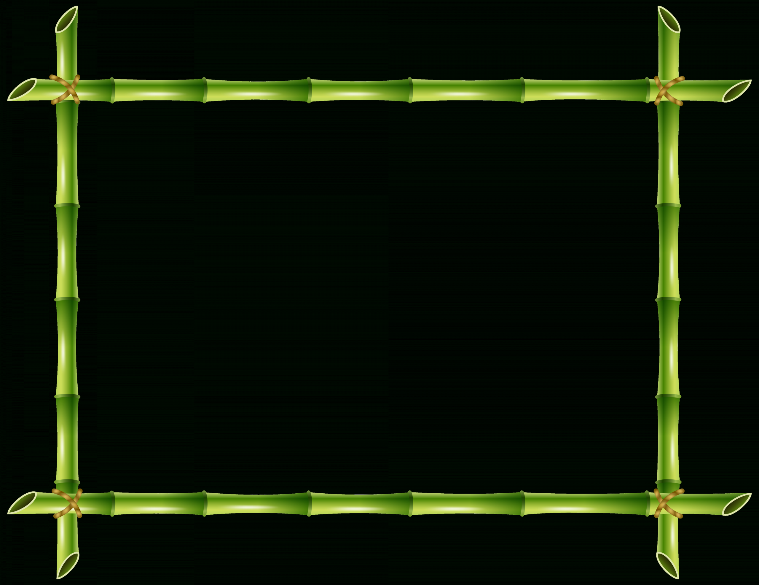 10 Bamboo Frame Png Bamboo Frame Frame Border Design Green Picture Frames