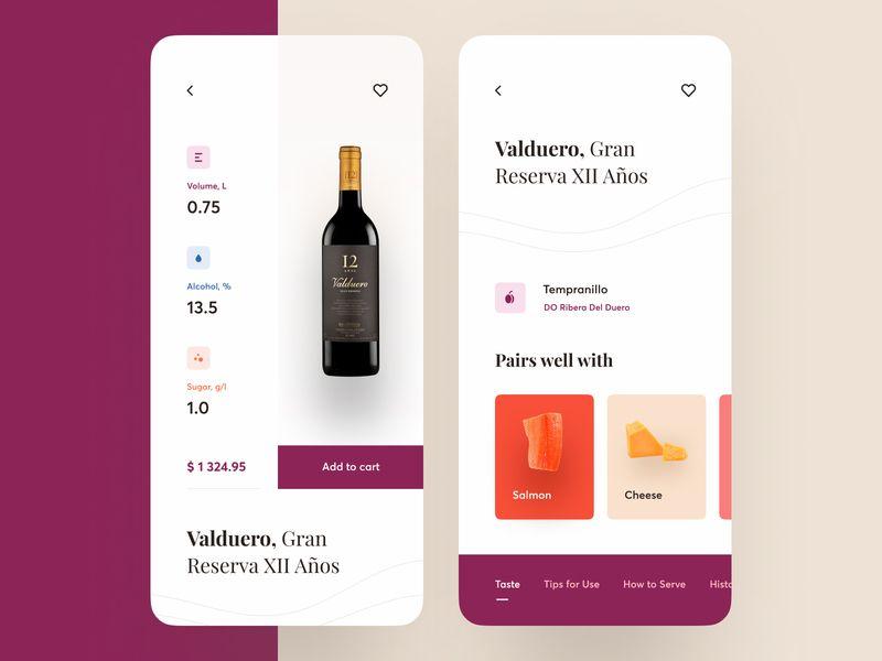 Wine Shop App Wine App App Design Inspiration App