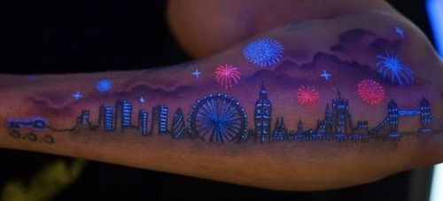 That would be cool as a regular tattoo, rather than black light as well.