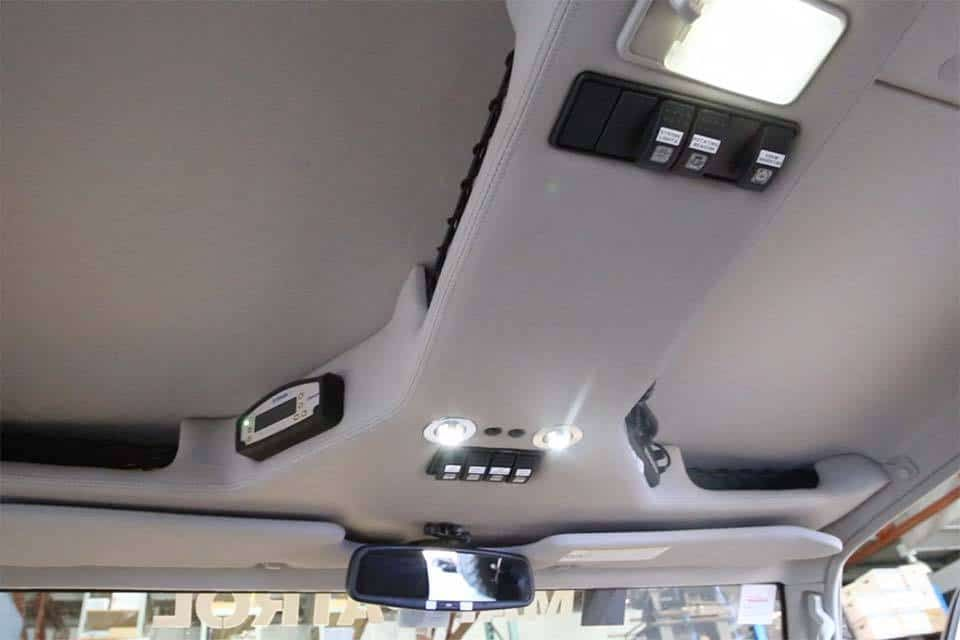 Roof Console Lc79 Globalsat Land Cruiser Custom Car Interior Truck Interior