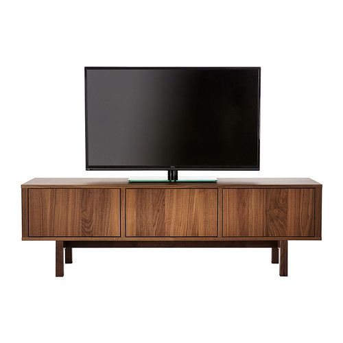 STOCKHOLM TV Unit IKEA The TV Bench In Walnut Veneer With Legs Of Solid Ash  Brings