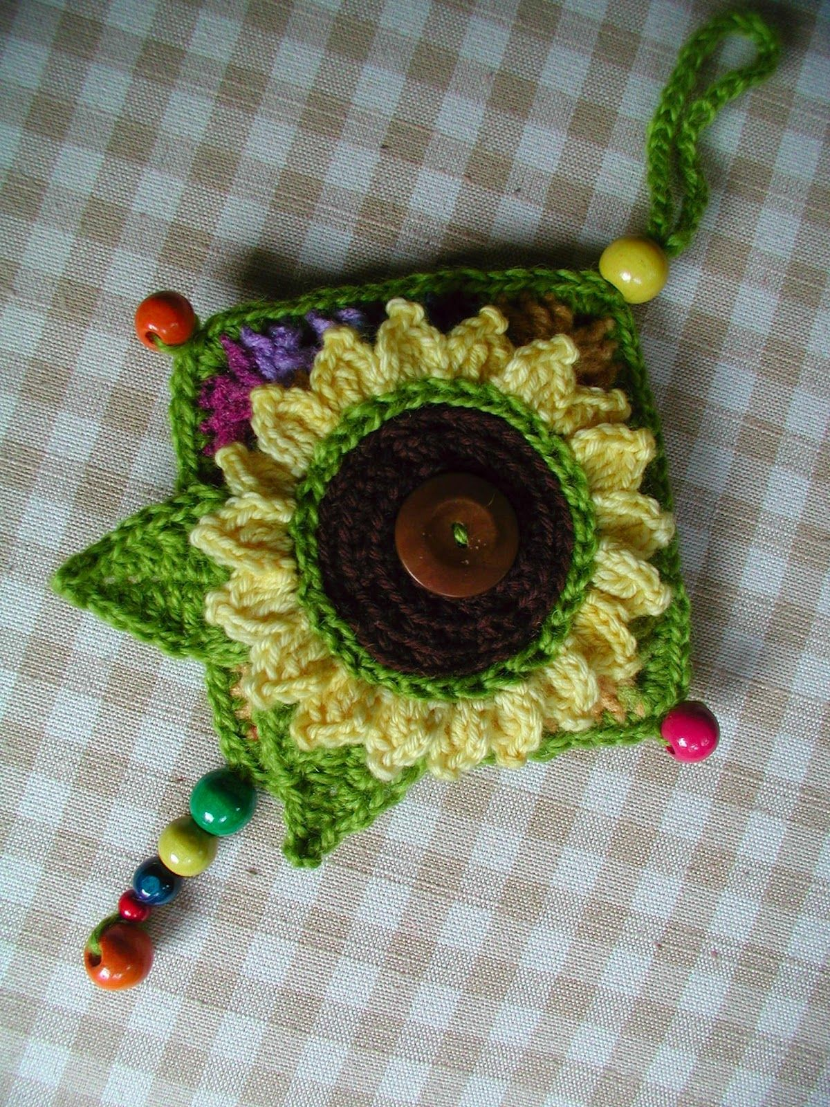 Sunflower Granny | attached this on to a granny square which is ...