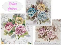 Resultado de imagen de stores de tela de flores