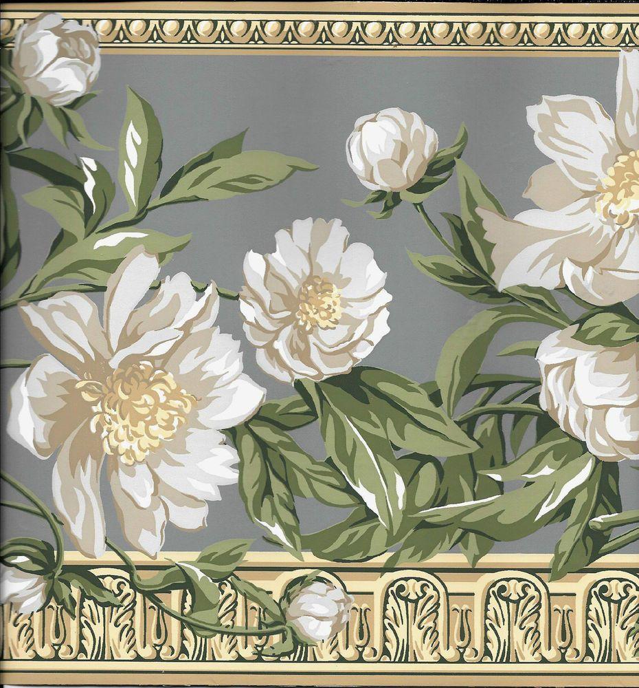 Katzenbach & Warren Victorian White Floral on Blue