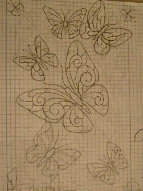 """Рисунок витражными красками """"Бабочки"""""""
