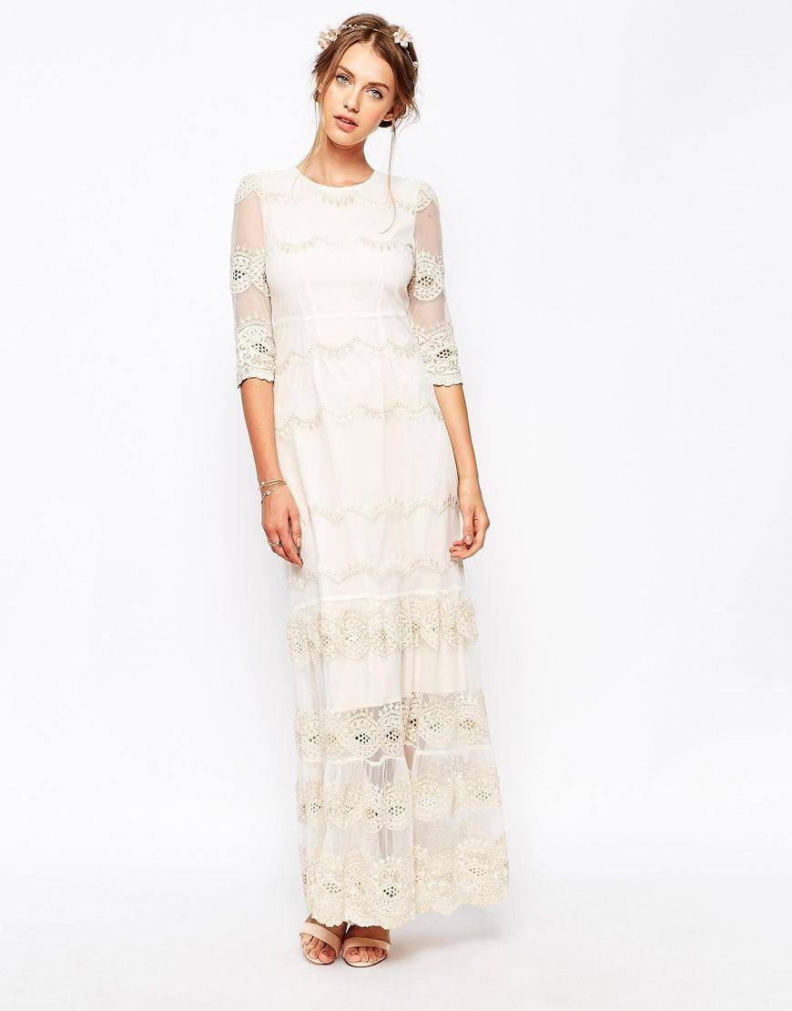 Soma London Vintage Scallop Lace Maxi Dress | Dresses | Pinterest ...