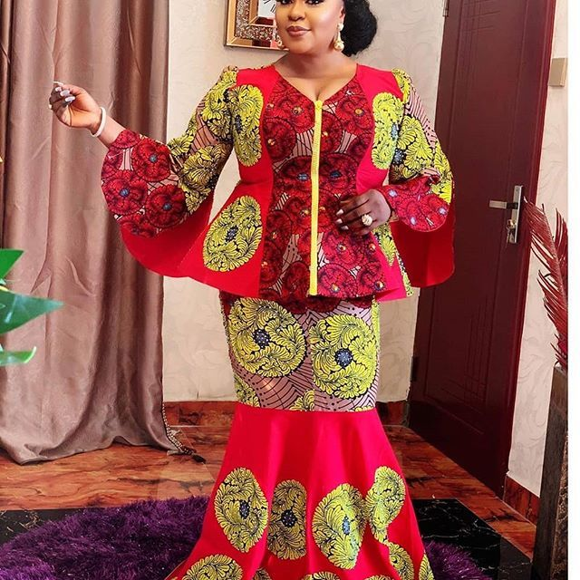Top Ten 2020 Trendy Ankara Skirt And Blouse Styles For African Ladies Latest African Fashion Dresses African Print Fashion Dresses African Fashion Dresses