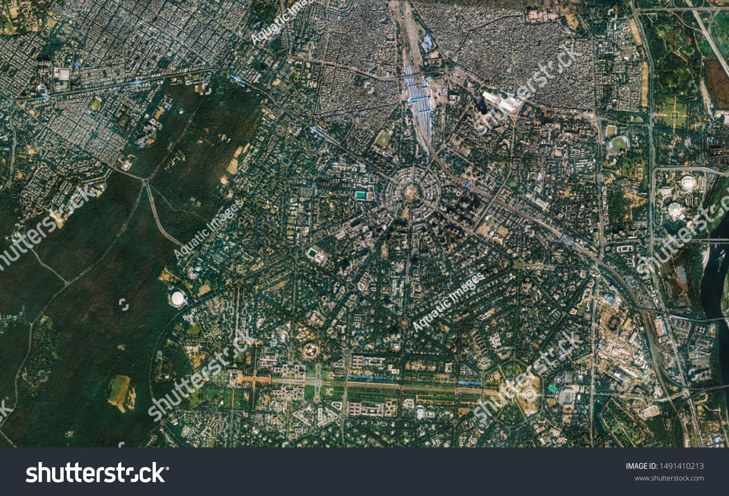 High Resolution Satellite Image Of New Delhi India Isolated Imagery Of India Elements Of This Image Furnished By Satellite Image Stock Illustration Imagery