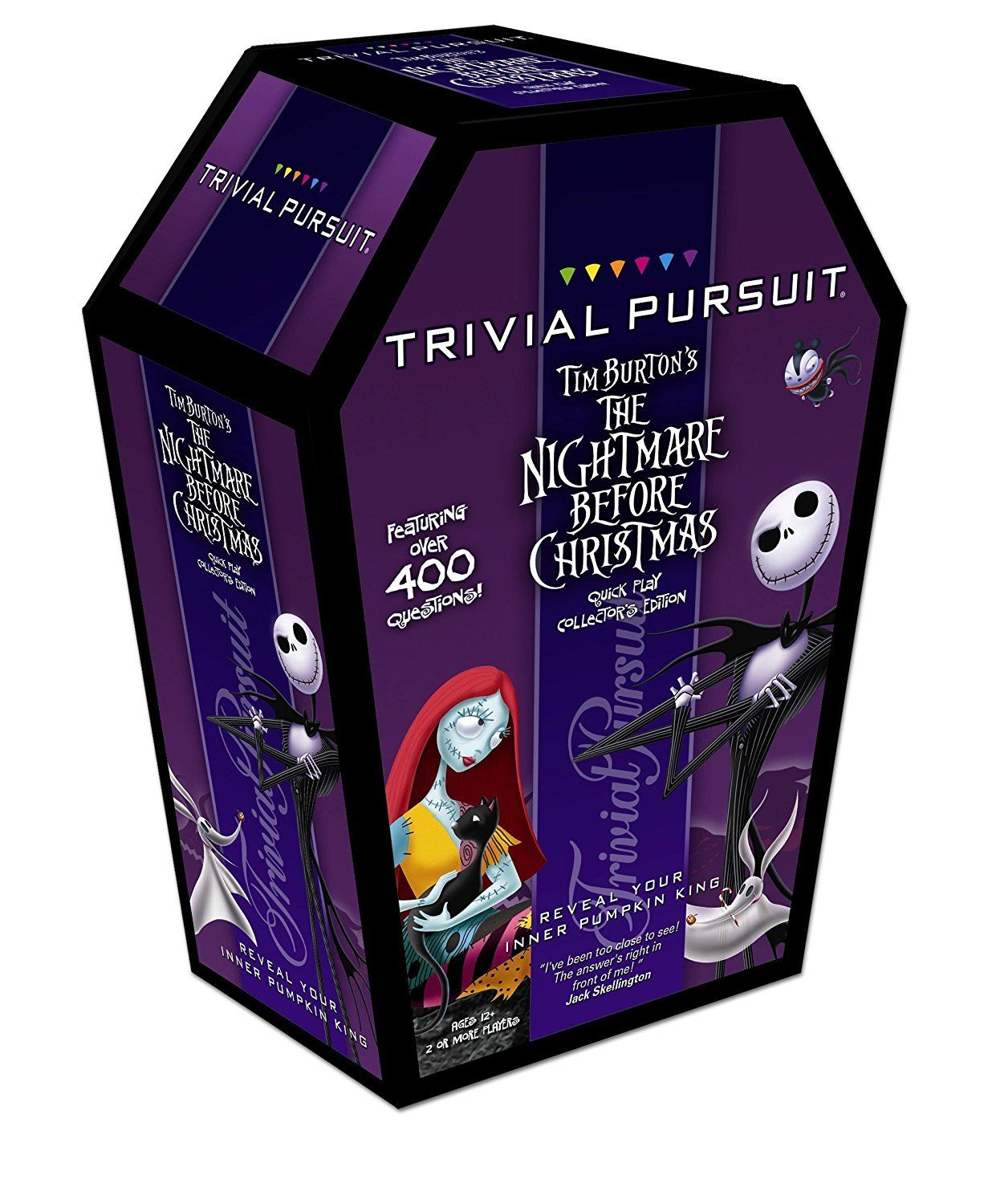 TRIVIAL PURSUIT: Tim Burton's The Nightmare Before Christmas. It's the infamous Pumpkin King teaming up with America's favored facts online game to bring you the shocking Tim Burton's The Nightmare Before Christmas Quick Play Collector's Edition of Trivial Pursuit. With over 400 inquiries ranging in trouble level from very easy to tool...   Read the rest of this entry » http://popularchristmas.com/trivial-pursuit-tim-burton-s-the-nightmare-before-chris