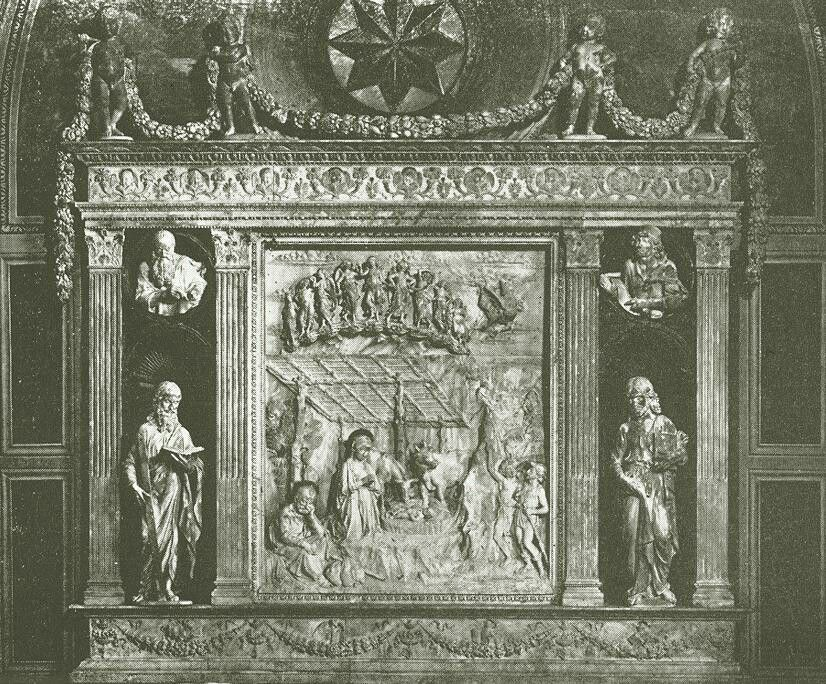 Antonio Rossellino - Birth of Jesus, 1470s, Marble, Santa Anna dei Lombardi, Monteoliveto, Naples