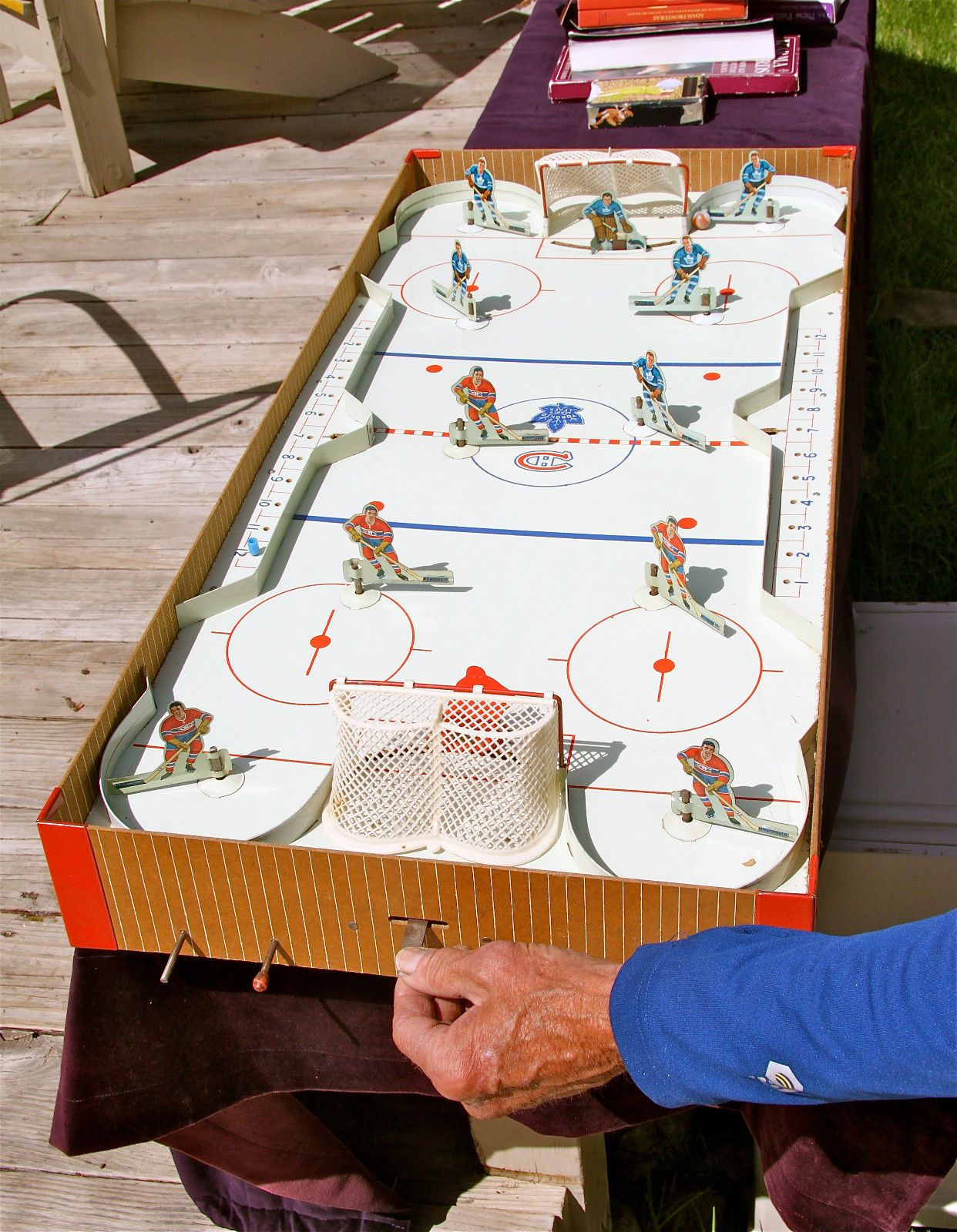 Vintage table hockey - Eagle Toys Vintage Table Hockey Game Nhl Pro Canadians Near Mint With Box
