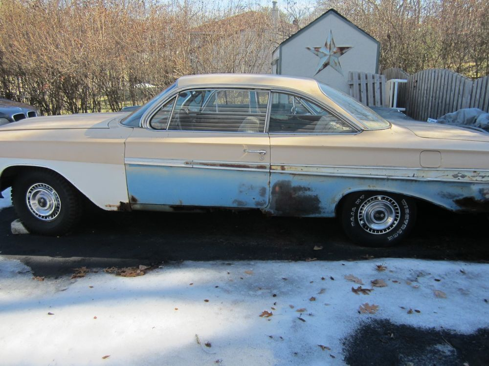 eBay: 1961 Chevrolet Impala !961 Chevy 2dr hardtop bubble coupe for ...