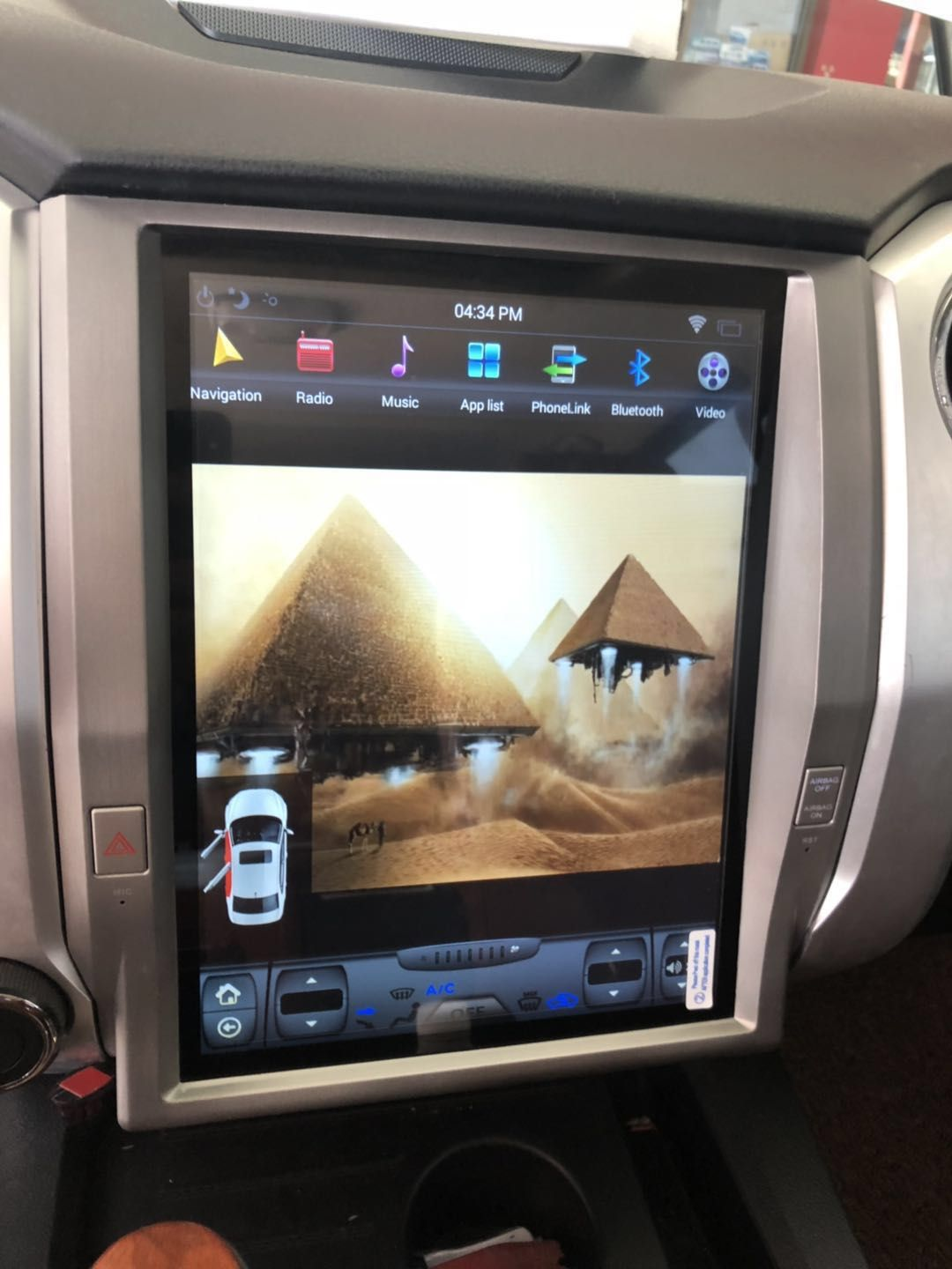 Tesla Vertical Touch Screen In Dash Car Dvd Auto Gps Navigation