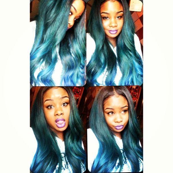Too Cute Green Hair Center Part Poisonivy Hair Weave Killa