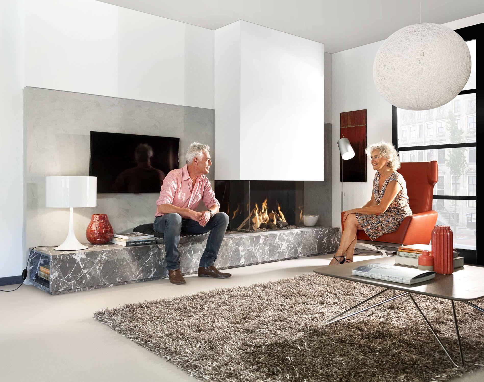 gas fireplace 3 sided closed hearth contemporary fairo eco