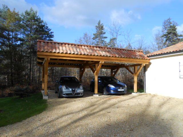 abris de voiture vente d 39 un carport en bois asym trique deux places abris bois voiture. Black Bedroom Furniture Sets. Home Design Ideas