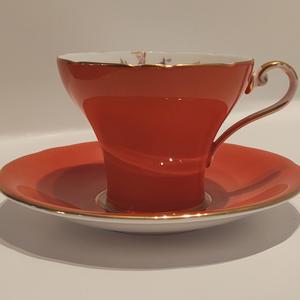 Aynsley Orange Tea Cup Saucer Etsy Tea Cups Orange Tea Cups Tea Cup Saucer