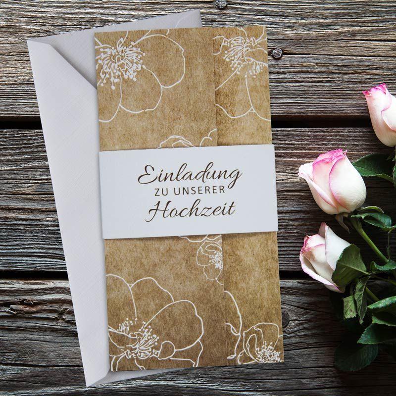 """einladungskarte hochzeit """"vintage flowers"""" jetzt bestellen"""