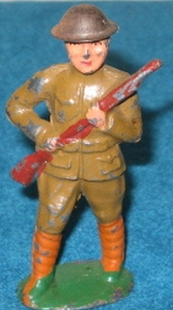 Wwi Lead Solr Man Marksman Toy