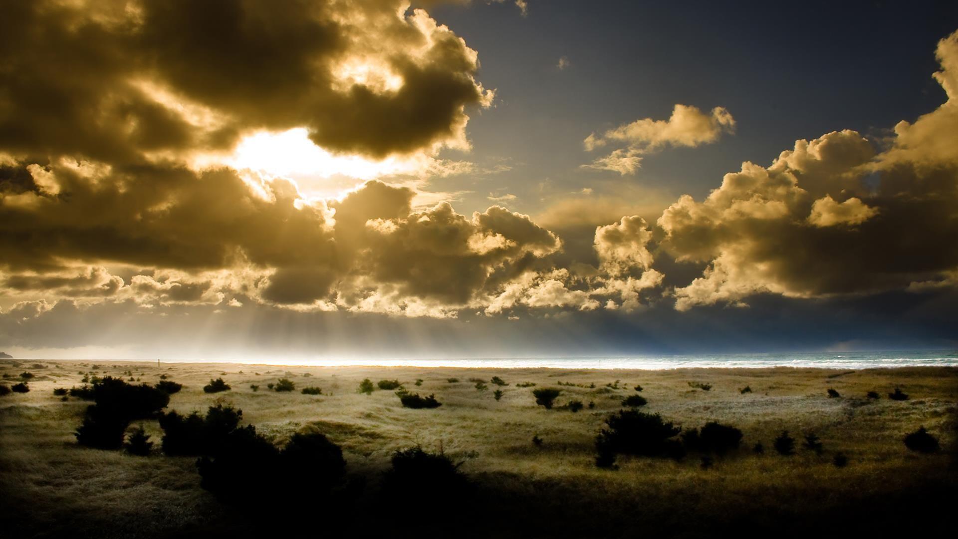 Fonds D Ecran Hd Paysages Soleil Paysage Soleil Nuage Papier Peint Coucher De Soleil