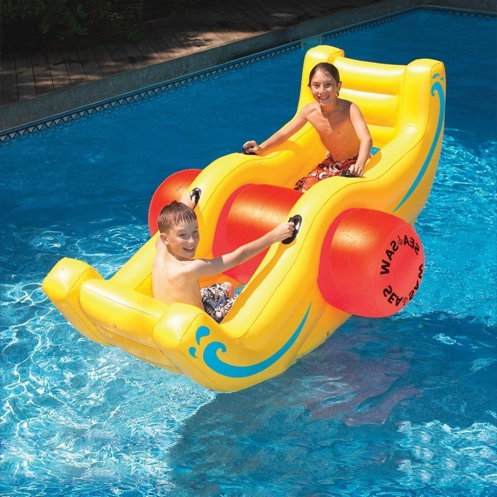 Inflatable Seesaw For Pool Swimming Pool Toys Inflatable Swimming Pool Pool Floats
