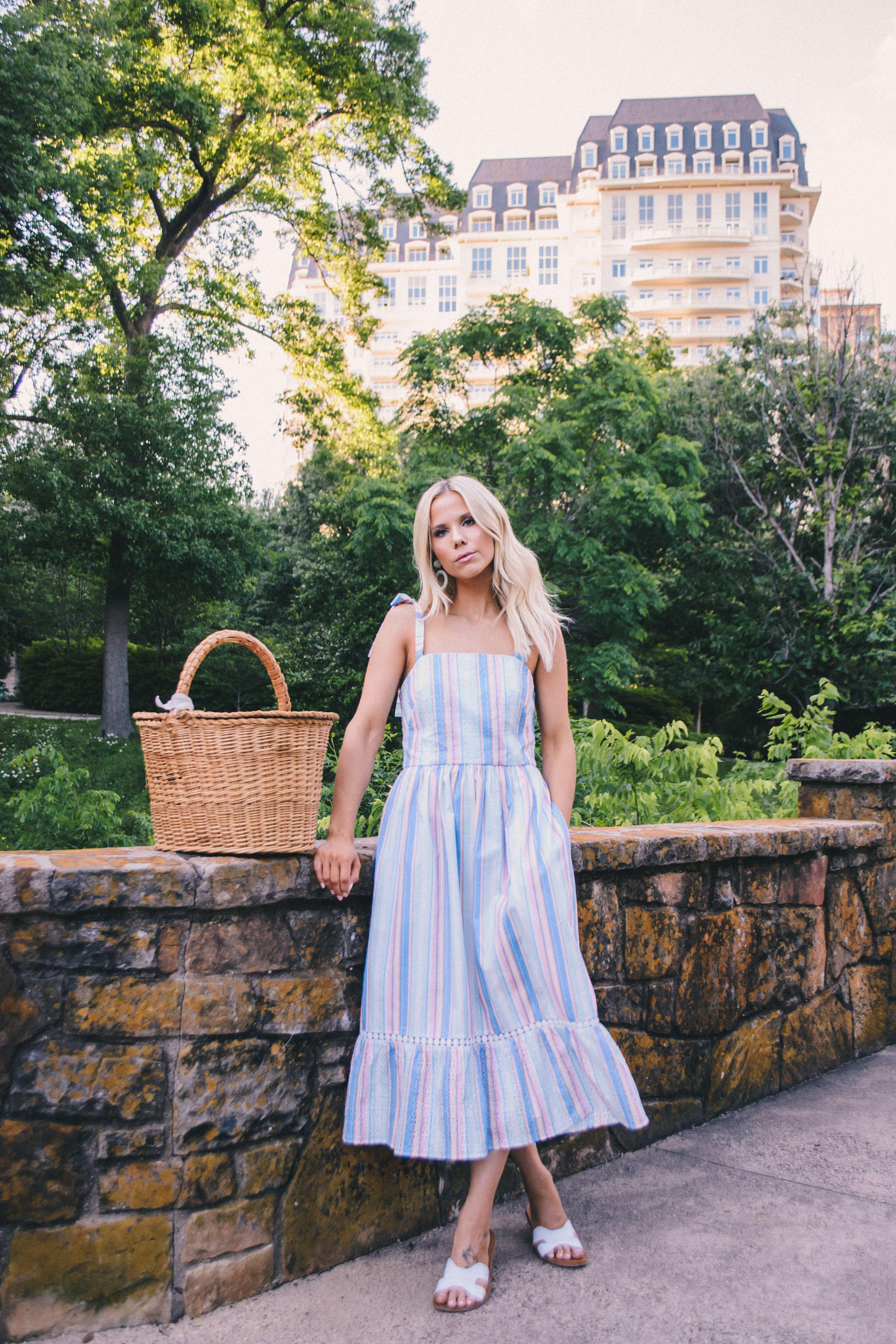 Hugedomains Com Picnic Outfits Picnic Dress Floral Wrap Maxi Dress [ 4608 x 3072 Pixel ]
