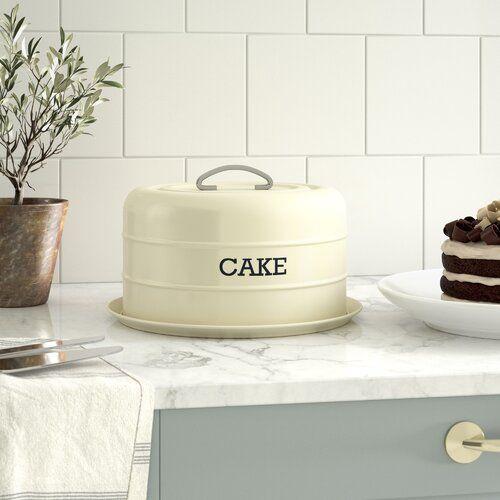 Cream Living Nostalgia Kitchen Craft Airtight Domed Cake Tin