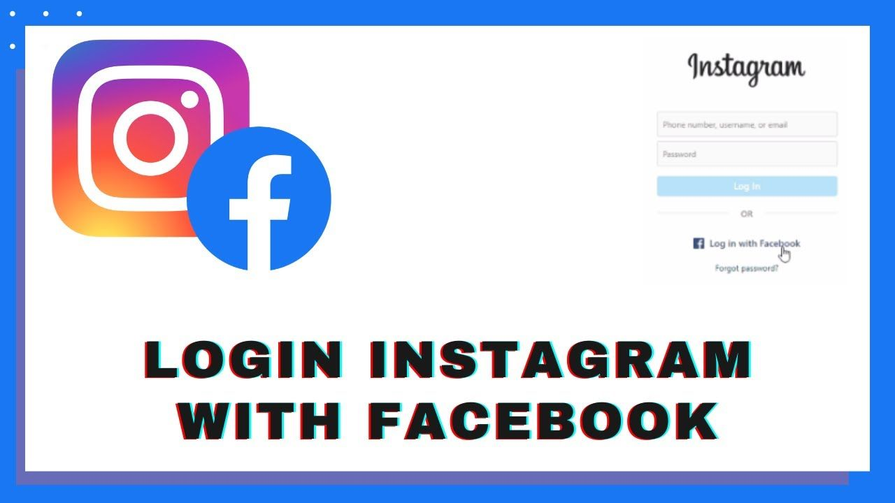 How To Login To Instagram With Facebook Account Instagram Sign In With Facebook Account Instagramloginfacebook Signini Instagram Sign Instagram Accounting