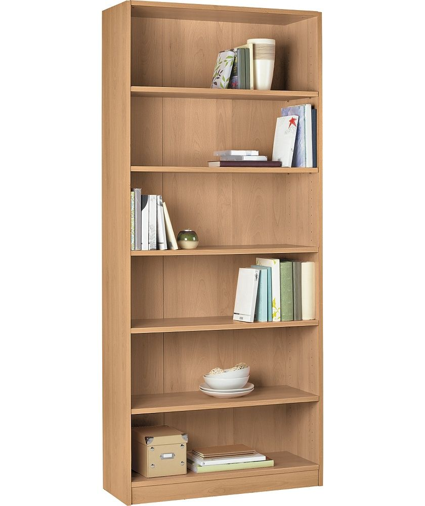 Buy Argos Home Maine 5 Shelf Wide Deep Bookcase Beech Effect