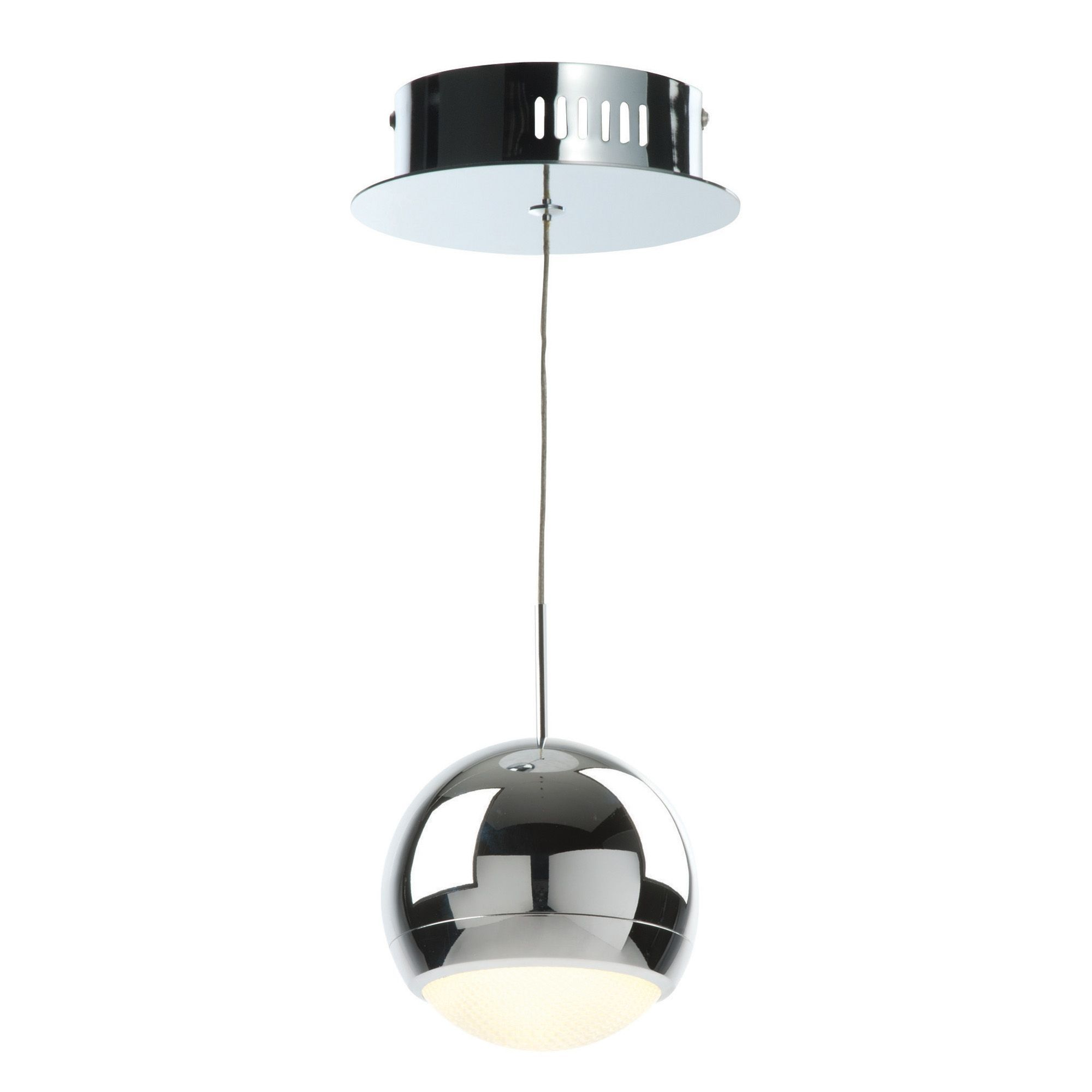 Pluto Chrome Effect Pendant Ceiling Light Glass PendantsLiving Room IdeasCeiling