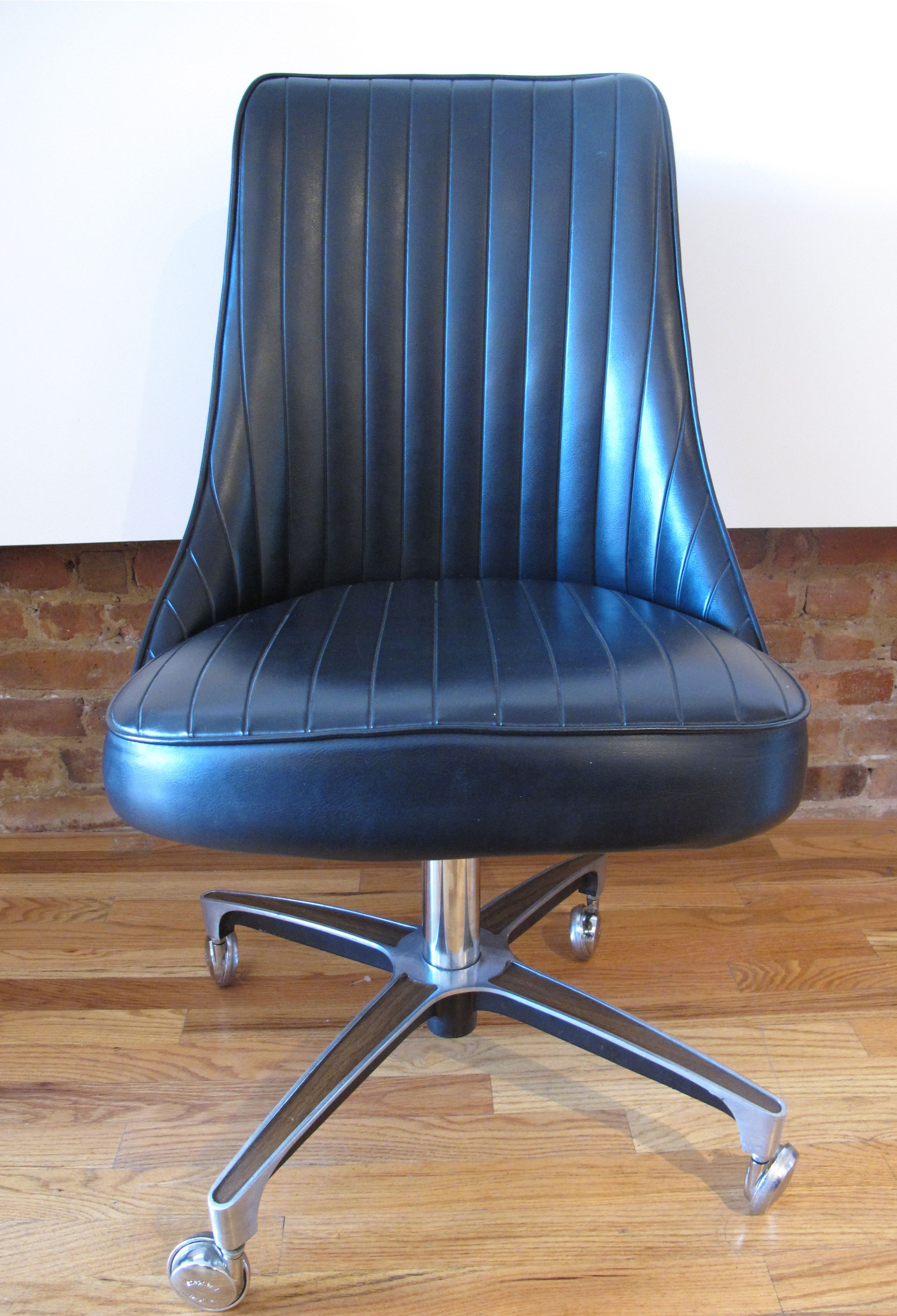 MID CENTURY ROLLING OFFICE CHAIR BY CHROMCRAFT | Sold Items ADVERTS ...
