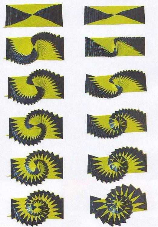 Curlicue Kinetic Origami Origammi In 2018 Pinterest Origami
