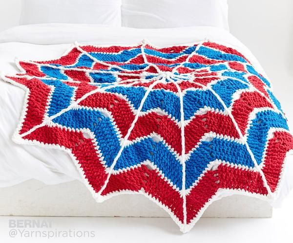 Free Crochet pattern to make this cute spiderman blanket with Bernat ...
