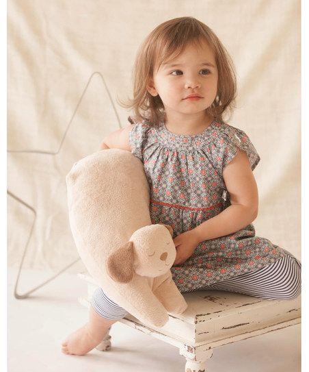 Blue Seaside Side-Tie Dress & Capri Pants - Toddler