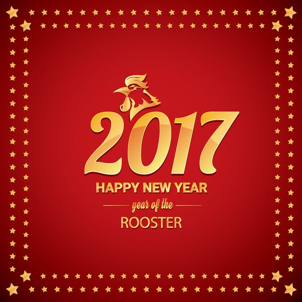 2017 chinese new year of rooster with stars frame vector 04 https - When Is Chinese New Year 2017