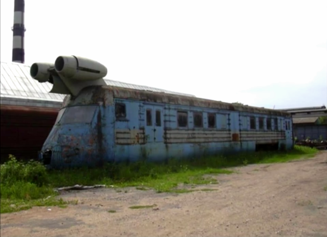 "The SVL Soviet Jet Powered Train, 1970's  Russian abbreviation of ""high-speed laboratory car"") was developed in Kalininsky carriage-building factory in the far 1970. Based on the train model ER22 it was able to move by means of two engines from the passenger jet Yak-40, installed at the front. https://www.youtube.com/watch?v=T66Hkoj02A4 http://gizmodo.com/293010/the-soviet-union-vs-us-jet-train-race http://englishrussia.com/2007/08/23/soviet-jet-train-some-more-history/"