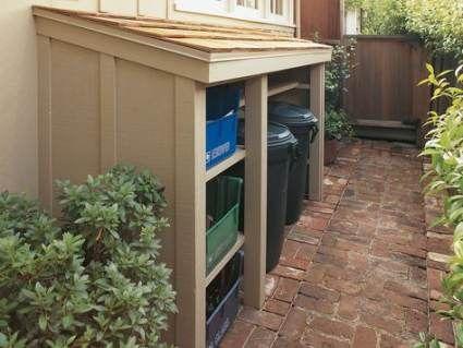 Wood Trash Can Holder Diy Recycling Bins