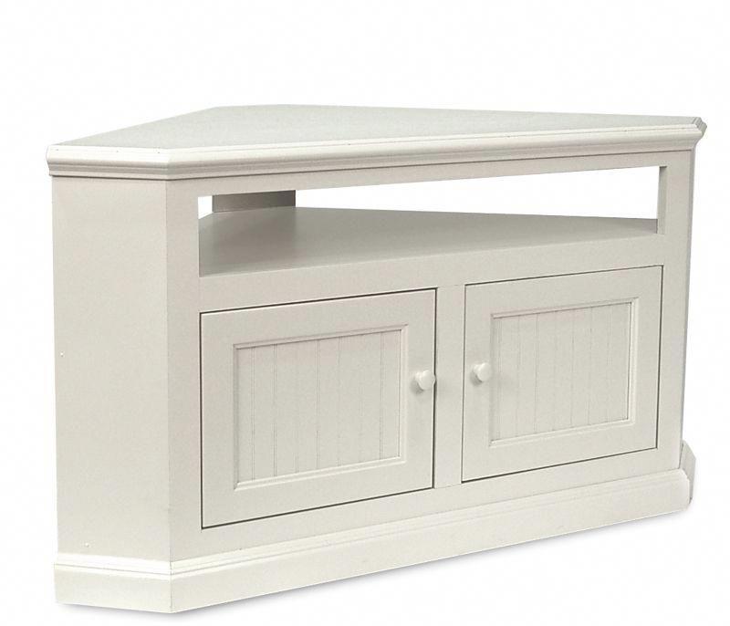 370 On Sale Boston Interiors Coastal Corner Tv Stand Soft White