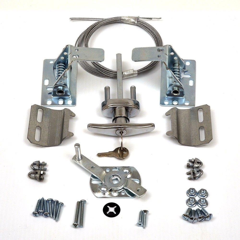 Garage door lock latch  Garage Door Lock Kit w Spring Latch  Keyed in Handle  RP