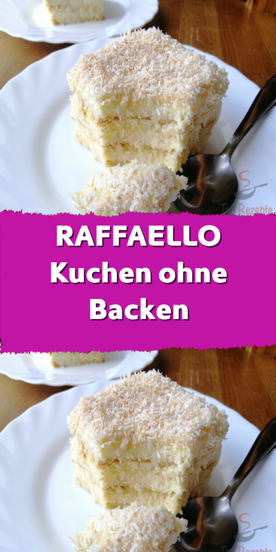 Raffaello Cake Without Baking Raffaello Kuchen Ohne Backen For Those Who Do Not Spend Much Time In The Kitchen Cakecletter Layercake L Delicious Desserts Easy Desserts Dessert Recipes