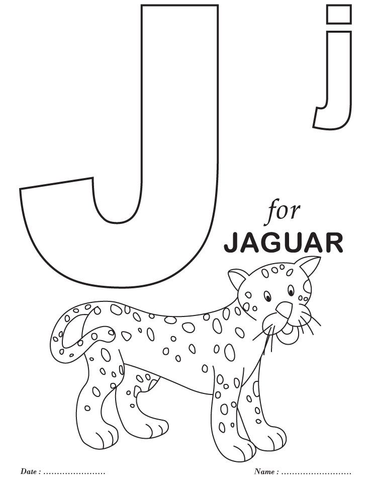 Free Coloring Pages With Alphabet : Printables alphabet j coloring sheets homeschool
