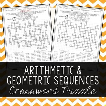Arithmetic & Geometric Sequences | Student, The o'jays and Crossword