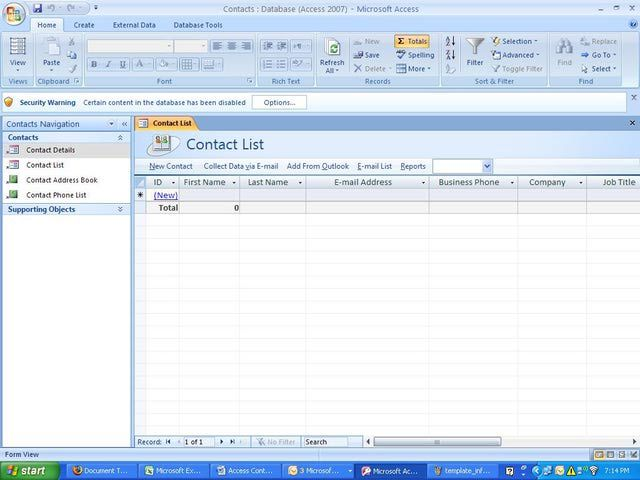 Step-by-Steps Guide to Creating a Microsoft Access 2007 Database ...