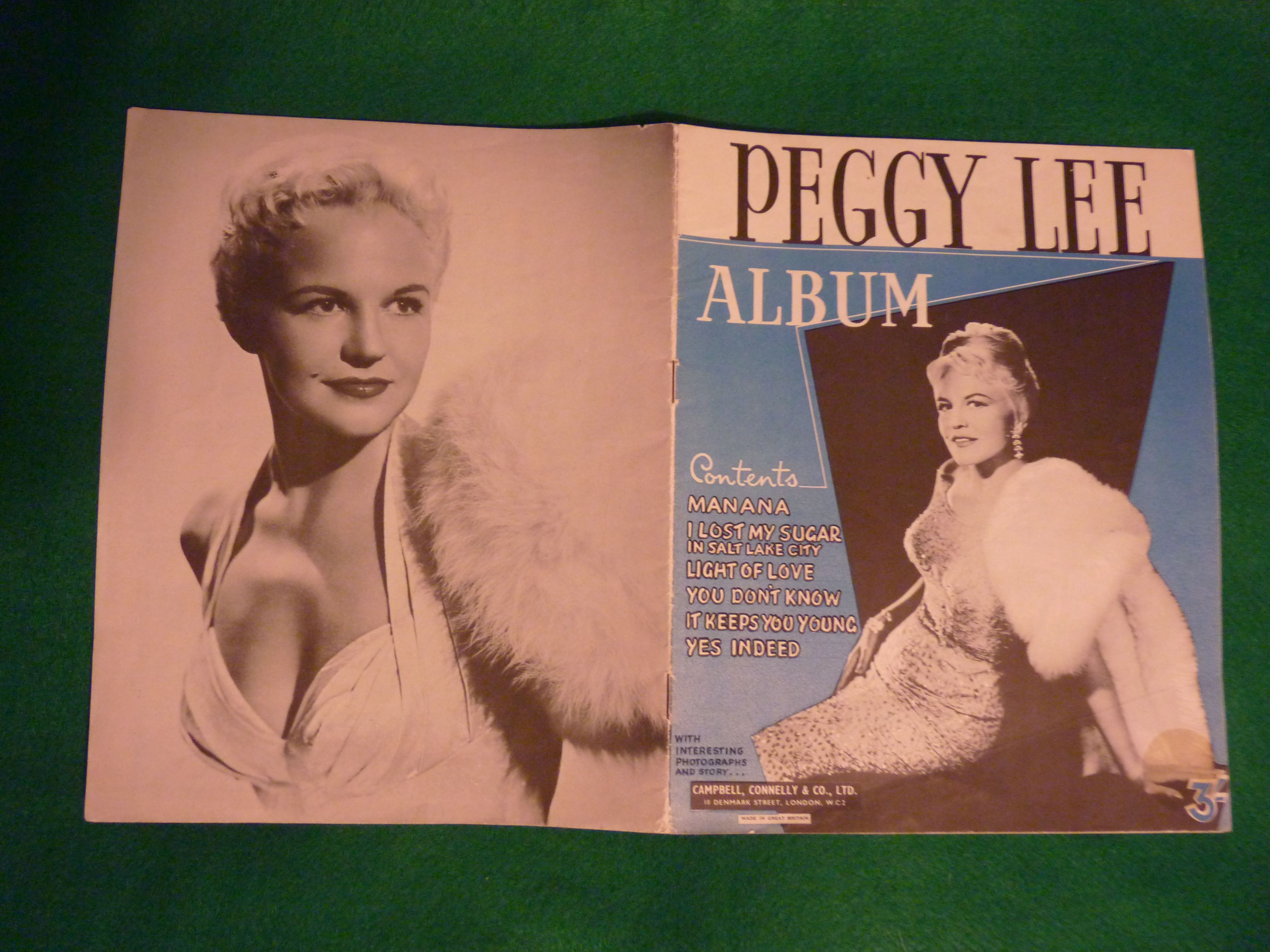 1948 Peggy Lee Sheet Music Album. She famously sang 'He's